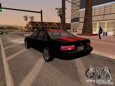 Chevrolet Impala SS 1995 pour GTA San Andreas vue de côté