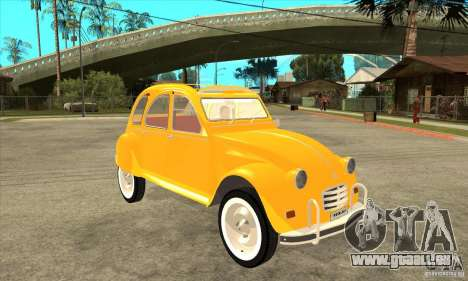 Citroen 2CV für GTA San Andreas Rückansicht