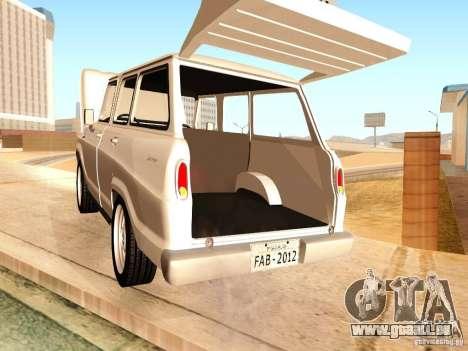 Chevrolet Veraneio de Luxo 1973 für GTA San Andreas Innenansicht