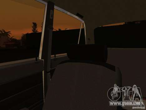 VAZ 2106 Polizei V 2.0 für GTA San Andreas obere Ansicht