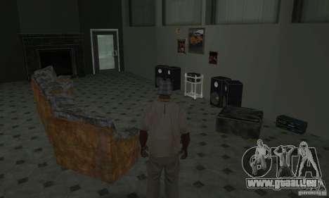 Maisons neuves à coffre intérieurs pour GTA San Andreas douzième écran