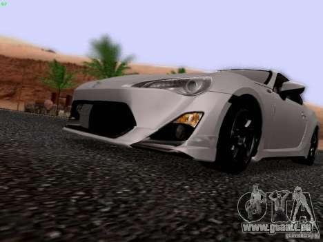 Toyota 86 TRDPerformanceLine 2012 pour GTA San Andreas vue intérieure