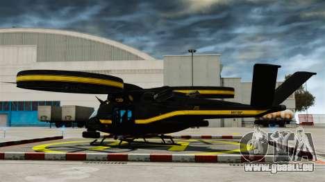Hélicoptère de transport Samson SA-2 pour GTA 4 Vue arrière de la gauche