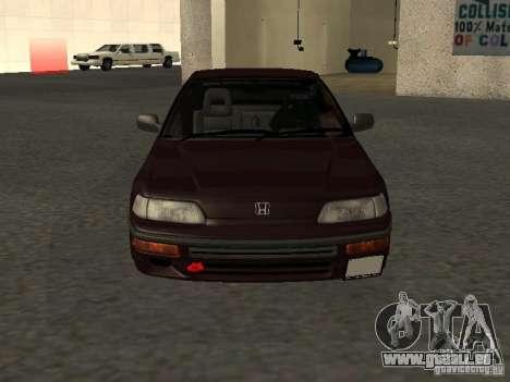 Honda Civic CRX JDM pour GTA San Andreas vue de dessus