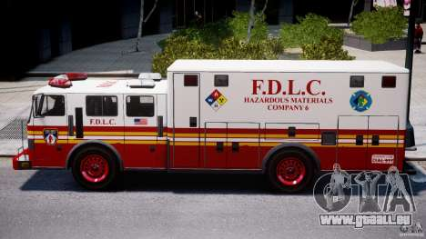 LCFD Hazmat Truck v1.3 für GTA 4 Innenansicht
