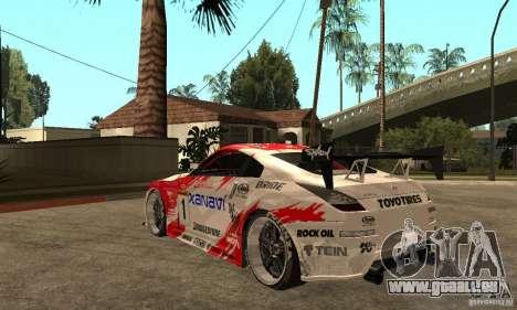 Nissan 350Z Xanavi pour GTA San Andreas sur la vue arrière gauche