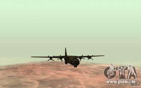 C-130 From Black Ops für GTA San Andreas zurück linke Ansicht