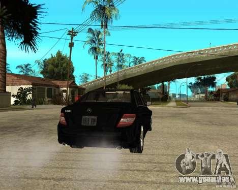 Mercedes Benz C350 W204 Avantgarde pour GTA San Andreas sur la vue arrière gauche