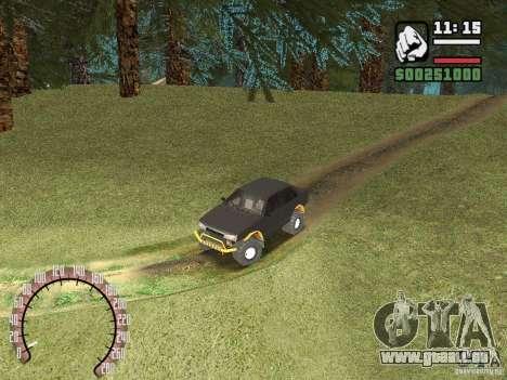 VAZ 21099 4 x 4 pour GTA San Andreas vue arrière