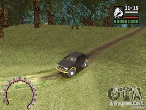 VAZ 21099 4 x 4 für GTA San Andreas Rückansicht