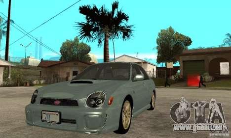 Subaru Impreza 2002 Tunable - Stock pour GTA San Andreas laissé vue