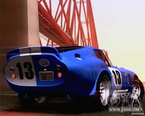 Shelby Cobra Daytona Coupe 1965 pour GTA San Andreas vue de droite