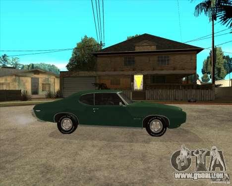 Pontiac GTO 1969 für GTA San Andreas rechten Ansicht