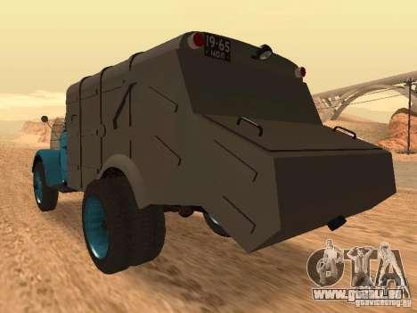 Camion à ordures GAZ 51 pour GTA San Andreas sur la vue arrière gauche