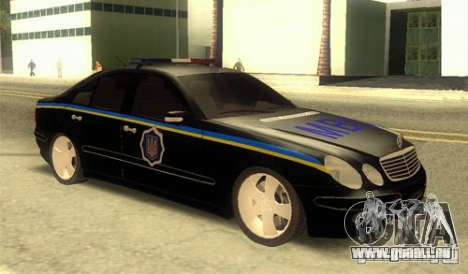 MERCEDES BENZ E500 w211 SE Polizei Ukraine für GTA San Andreas