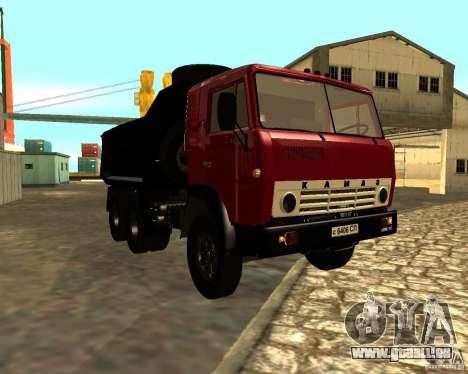 KAMAZ 55111 pour GTA San Andreas laissé vue