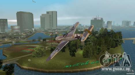 WW2 War Bomber für GTA Vice City linke Ansicht