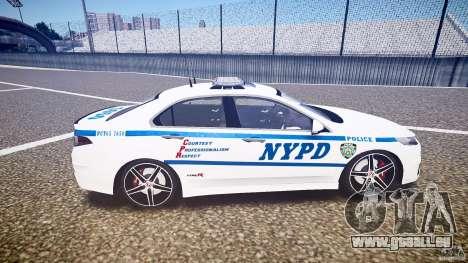 Honda Accord Type R NYPD (City Patrol 7605) ELS pour GTA 4 est une vue de l'intérieur