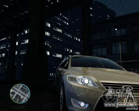 Ford Mondeo Mk4 pour GTA 4 Vue arrière