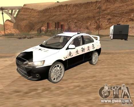 Mitsubishi Lancer EVO X Japan Police pour GTA San Andreas