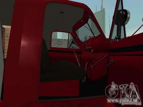 GAZ 51 20 ADC pour GTA San Andreas vue intérieure