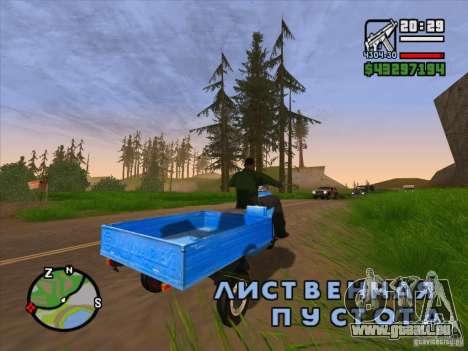 Scooter Ant tourisme-M pour GTA San Andreas sur la vue arrière gauche