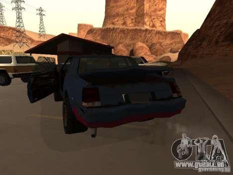Rusty empereur de GTA 4 pour GTA San Andreas sur la vue arrière gauche