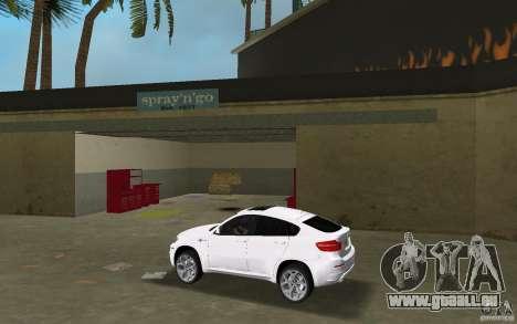 BMW X6M 2010 pour une vue GTA Vice City de la gauche