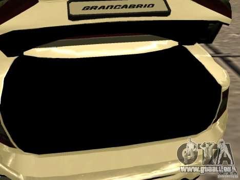 Maserati GranCabrio 2011 pour GTA San Andreas vue de côté