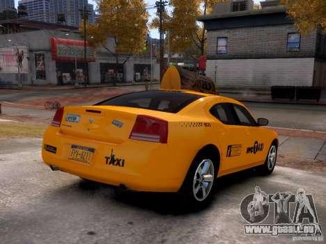 Dodge Charger NYC Taxi V.1.8 für GTA 4 Rückansicht