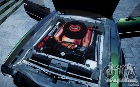 Pontiac Firebird 1971 pour GTA 4 est une vue de l'intérieur