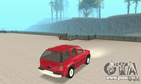Chevrolet Tahoe 1992 pour GTA San Andreas sur la vue arrière gauche