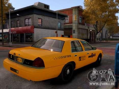 Ford Crown Victoria NYC Taxi 2013 pour GTA 4 Vue arrière de la gauche