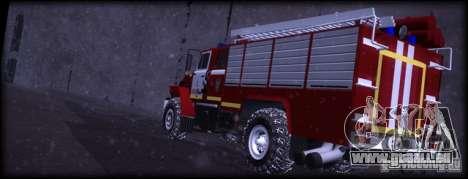 Ural 43206 AC 3.0-40 pour GTA San Andreas sur la vue arrière gauche