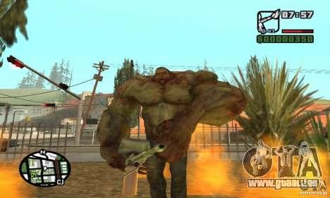 Tank von der Left 4 Dead für GTA San Andreas fünften Screenshot