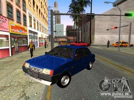 VAZ 21099 für GTA San Andreas Innenansicht