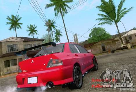 Mitsubishi Lancer Evolution VIII Varis pour GTA San Andreas sur la vue arrière gauche