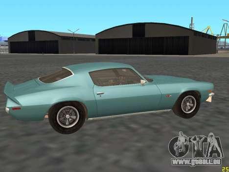 Chevrolet Camaro Z28 1971 für GTA San Andreas zurück linke Ansicht