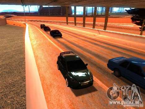 Pilotes normale sur la piste pour GTA San Andreas quatrième écran