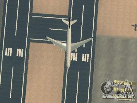 Airbus A340-300 Air Canada pour GTA San Andreas vue de dessus