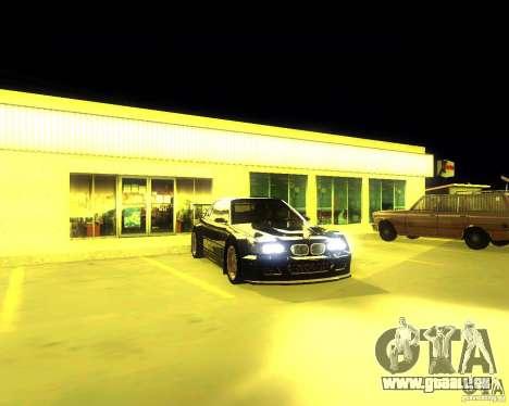 BMW E46 M3 GTR - Stock für GTA San Andreas zurück linke Ansicht