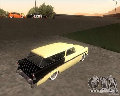 Chevrolet Bel Air Nomad 1956 custom pour GTA San Andreas laissé vue