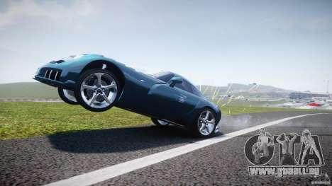 TVR Sagaris pour GTA 4 est une vue de dessous