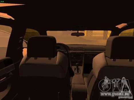Audi S4 OEM pour GTA San Andreas vue intérieure