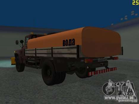 Ko-829 sur beta ZIL-130-châssis de camion pour GTA San Andreas sur la vue arrière gauche