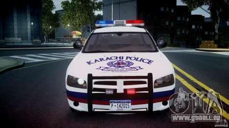 Dodge Charger Karachi City Police Dept Car [ELS] pour GTA 4 est un côté