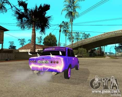 Porte double VAZ 2101 pour GTA San Andreas sur la vue arrière gauche