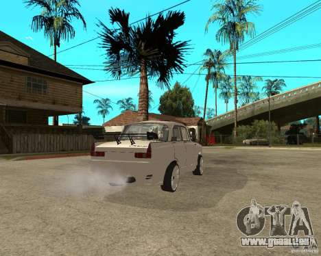 AZLK 412 à l'écoute pour GTA San Andreas sur la vue arrière gauche