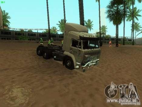 KAMAZ 6460 für GTA San Andreas Innenansicht