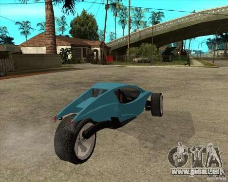 AP3 cobra pour GTA San Andreas sur la vue arrière gauche